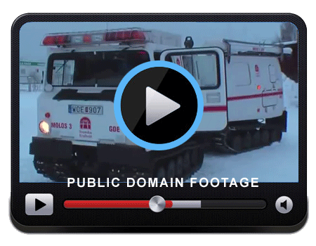 Video of a Command Vehicle operating in the snow