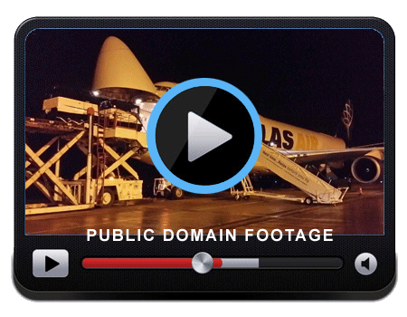 Video showing a soft top BV206 being loaded onto a Boeing 747 Cargo Plane