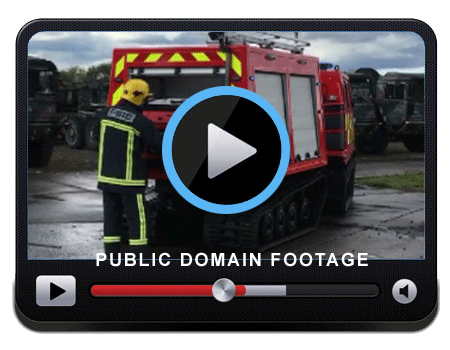 Video of the BV206 Fire Chief showing the vehicle during a small live fire training exercise